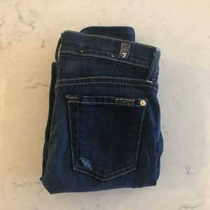 LIKE NEW 7 For All Mankind The Skinny Jean Size 26